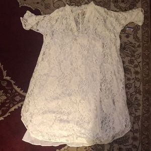 Rachel Roy off-white lace dress